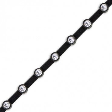 Single Row Rhinestone On Elastic Cord