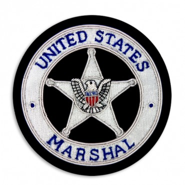 "3"" x 3"" UNITED STATES MARSHAL CREST - SILVER/BLUE MULTI"