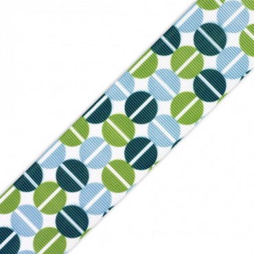 "1.5"" S/F SPLIT PEA GROSGRAIN - BLUE MULTI"