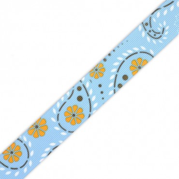 "7/8"" S/F PRETTY PAISLEY RIBBON"