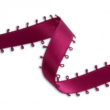 16MM DOUBLE FACE SATIN PICOT EDGE RIBBON