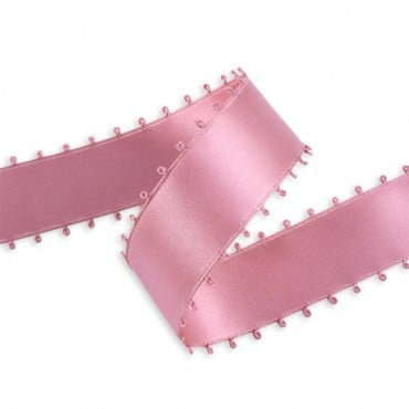 25MM DOUBLE FACE SATIN PICOT EDGE RIBBON