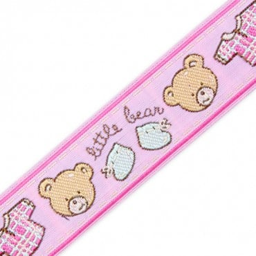 25MM TEDDY & CLOTHING JACQUARD RIBBON - PINK MULTI