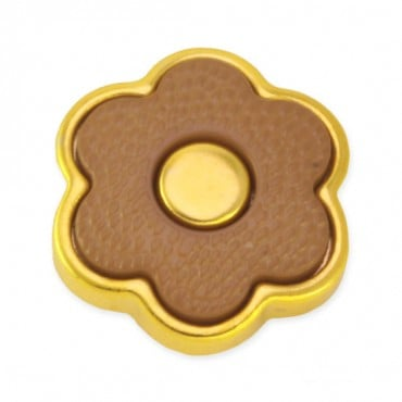 BORDERED FLOWER FASHION BUTTON WITH SHANK