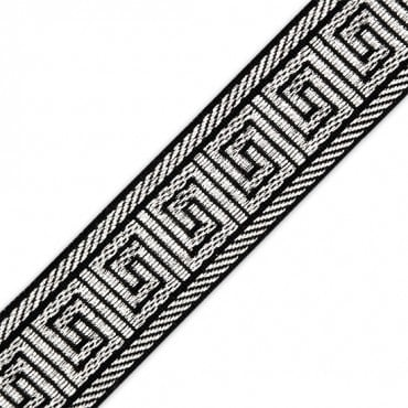 "1 3/8"" (33MM) GREEK KEY  MET.JACQUARD"