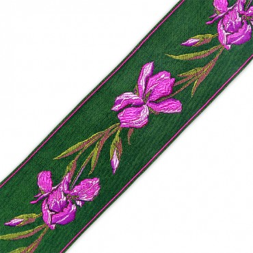 66MM FLORAL JACQUARD RIBBON