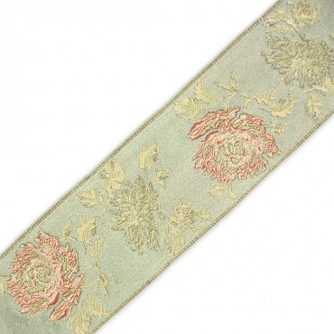65MM ROSE JACQUARD RIBBON