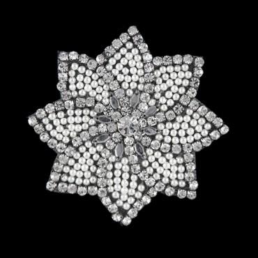 Rhinestone Pearl Flower