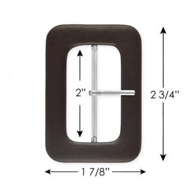 COVERED BUCKLE W/PRONG