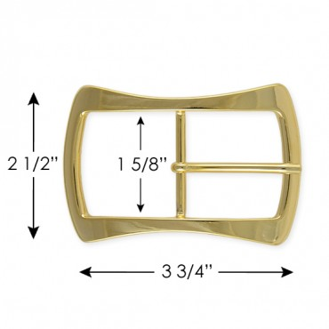 MODERN RECTANGLE BUCKLE WITH PRONG