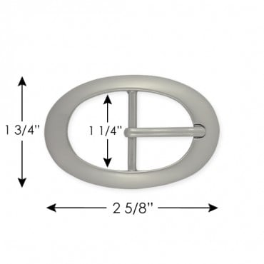 30MM FANCY BUCKLE W/PRONG - SATIN NICKEL