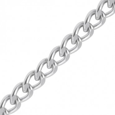 19MM CUT DIAMOND ALUMINUM CHAIN-19mm-NICKEL