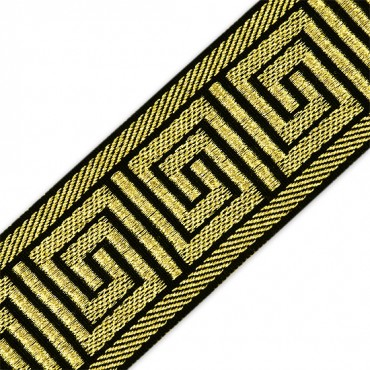 60MM GREEK KEY MET. JACQUARD