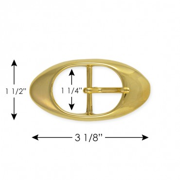 CLASSIC OVAL THICK EDGE METAL BUCKLE WITH PRONG