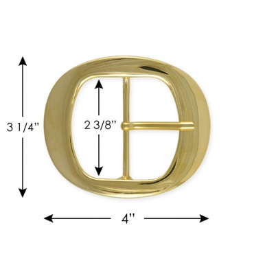 CLASSIC METAL BUCKLE WITH PRONG