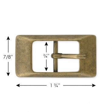 "7/8"" X 1 3/4""  METAL BUCKLE W/PRONG"