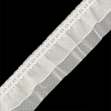 "1 1/2"" STRETCH ORGANZA RUFFLED"