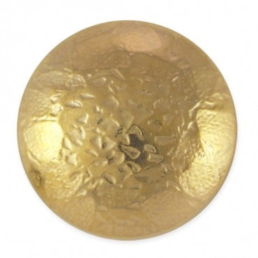 Hammered Metal Button with Shank