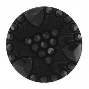 JEWELED TRIANGLE DESIGN FASHION BUTTON WITH SHANK