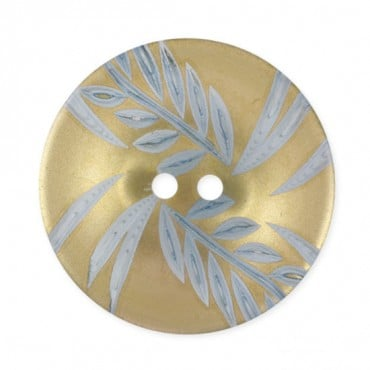 METALLIC LEAF FASHION BUTTON 2-HOLES