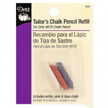 TAILORS CHALK PENCIL REFILL - MULTI