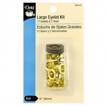 LG EYELET KIT-12CT-W/TOOL-GILI - MULTI
