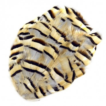 "5"" x 4"" GROUSE FEATHER PATCH - NATURAL"
