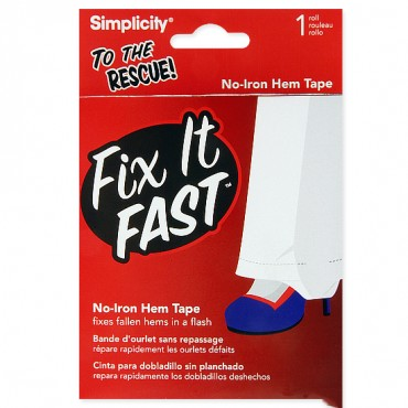 FIX IT FAST NO IRON HEM TAPE - CLEAR