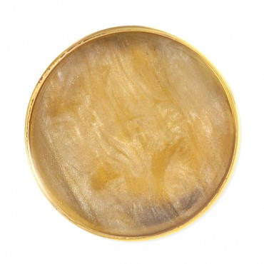 GOLD RIMMED ENAMEL BLAZER BUTTON
