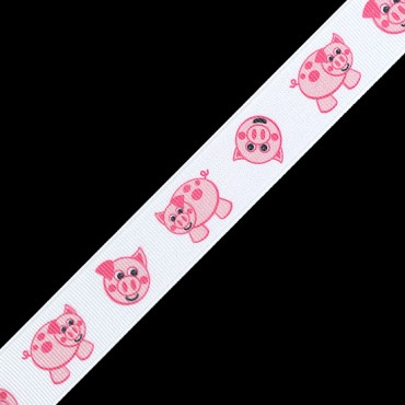"7/8""(23mm) Piggy Printed Ribbon"