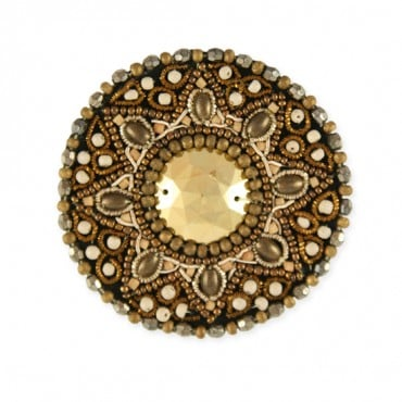 BEADED MOTIF - GOLD MULTI