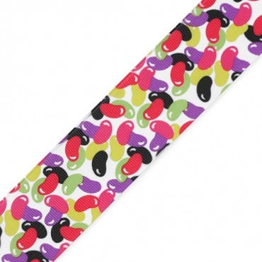 "1 1/2"" (38mm) Jelly Beans Printed Ribbon"