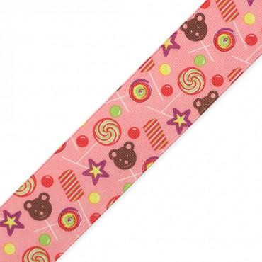 "1 1/2"" (38mm) Candy Printed Ribbon"