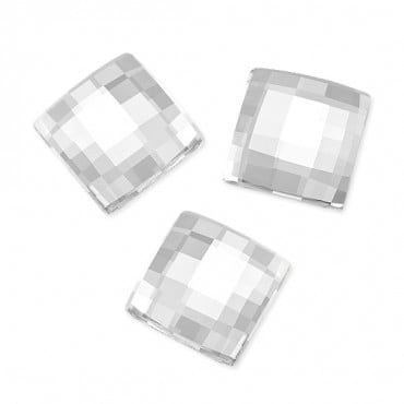 12MM CHESSBOARD HOT-FIX R.S. - CRYSTAL