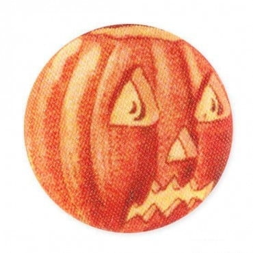 JACK O LANTERN BUTTON-23mm-ORANGE