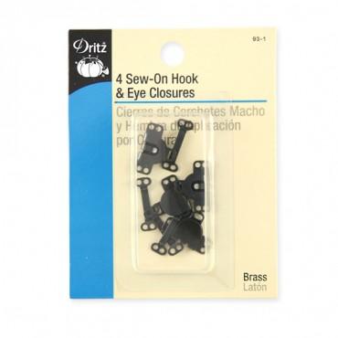4 Sew-On Hook & Eye Closures