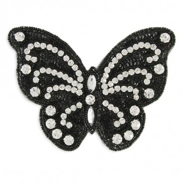 BEADED BUTTERFLY APPLIQUE