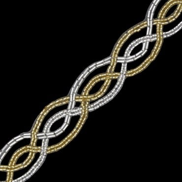 "1"" SWIRLING PATTERN BEADED TRIM"