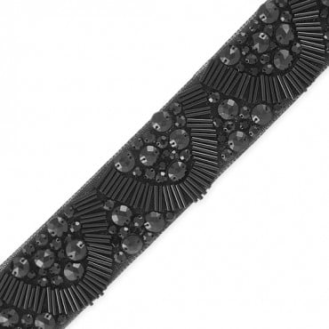 "1 7/8"" SCALLOPED DESIGN BEADED TRIM"