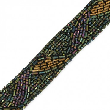"1"" SWIRLING WAVES BEADED TRIM"