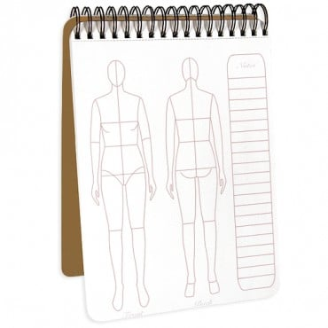 "8.5""x11""FASHIONFLAT SKETCHPAD - BROWN"