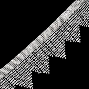"2 1/2""(63mm) Pyramid Rhinestone Fringe"