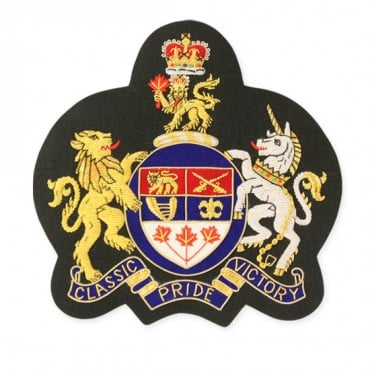 "8"" BULLION CREST APPLIQUE - MULTI"
