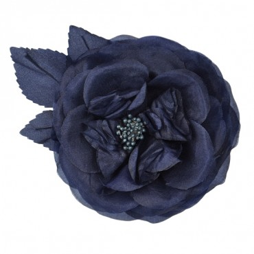 CRINKLED ROSE WITH PIN