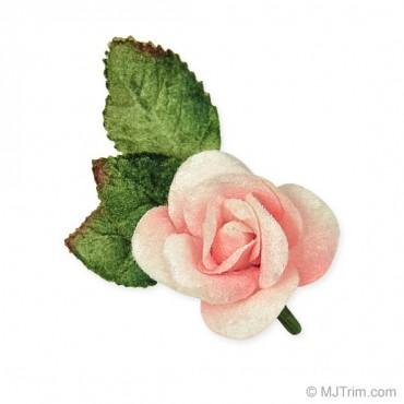 """2"""" X 3"""" VELVET ROSE WITH PIN"""