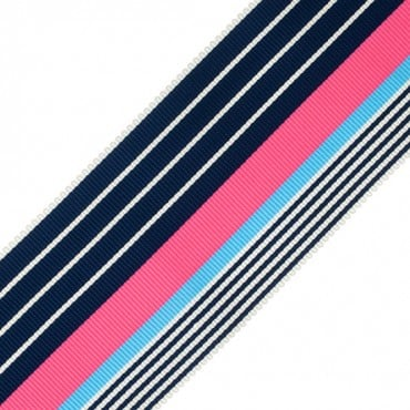 "2 1/8"" STRIPE GROSGRAIN RIBBON-2 1/8""-BLACK MULTI"