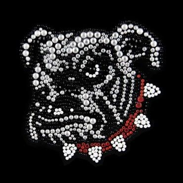 "3.5"" X 3.5"" BULL DOG APPLIQUE - MULTI"