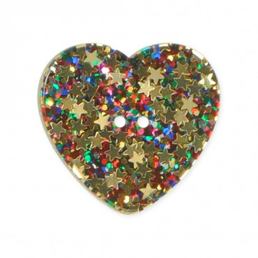 HEART SHAPE GLITTER BUTTON