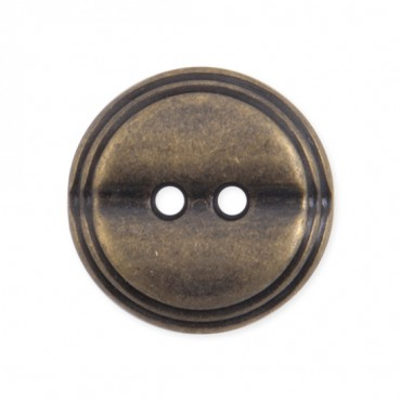 2-HOLE RIDGE METAL BUTTON