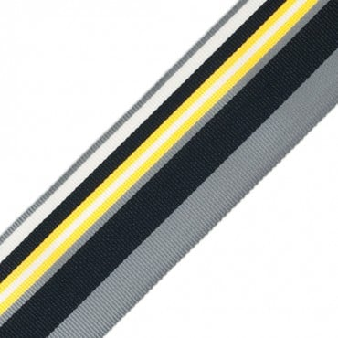 "2 1/8"" VARIED STRIPE RIBBON-YELLOW/BLACK"